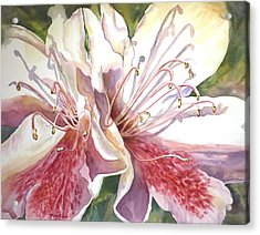 Acrylic Print featuring the painting First Thoughts Of Spring by Roxanne Tobaison