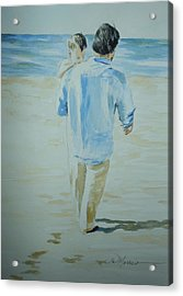 First Time At The Beach Acrylic Print