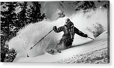 First Tracks.... Acrylic Print by Eric Verbiest