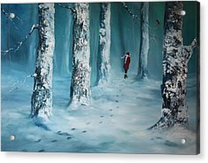 First Trodden Snows Acrylic Print