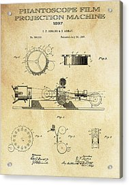 First True Motion Picture Projector Patent  1897 Acrylic Print