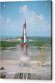 First Us Manned Space Flight Acrylic Print