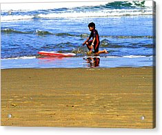 First Wave Acrylic Print by Joseph Coulombe