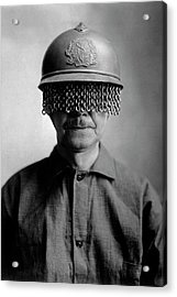 First World War Helmet Eye Screen Acrylic Print by Us Army/science Photo Library