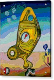 Fish Abstract #2 Acrylic Print by George Curington