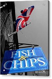 Fish And Chips Acrylic Print by Samantha Higgs