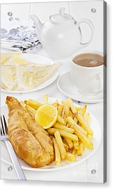 Fish And Chips Supper Acrylic Print by Colin and Linda McKie