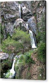 Fish Canyon Falls Acrylic Print by Eddie Yerkish
