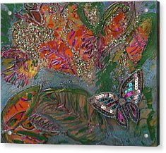 Fish Dream Of Flying Butterfly Dreams Of Swimming Acrylic Print by Anne-Elizabeth Whiteway