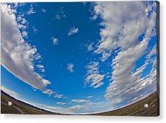 Fish-eye Sky Acrylic Print by Jason KS Leung