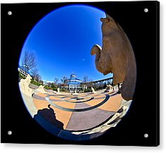 Fish Eye View Of Coolidge Park Acrylic Print by Tom and Pat Cory