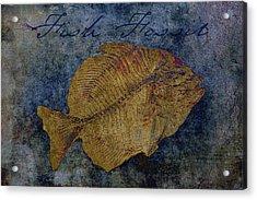 Fish Fossil Acrylic Print