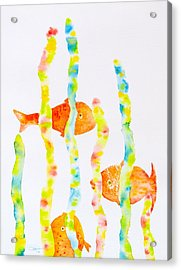 Acrylic Print featuring the painting Fish Fun by Michele Myers