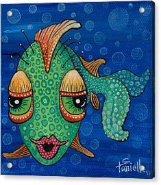 Fish Lips Acrylic Print by Tanielle Childers