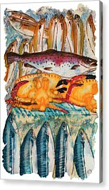 Fish Market Acrylic Print by Tess Stone