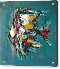 Fish Morden Art Painting - 3 Acrylic Print by Kim Wang