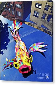 Fish Out Of Water Acrylic Print by Sarah Loft