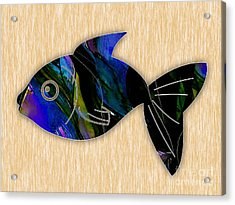 Fish Painting Acrylic Print by Marvin Blaine