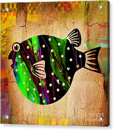 Fish Paintings Acrylic Print by Marvin Blaine