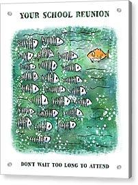 Fish School Reunion Acrylic Print by Mark Armstrong