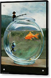 Fish Tale Acrylic Print