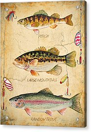Fish Trio-b Acrylic Print by Jean Plout