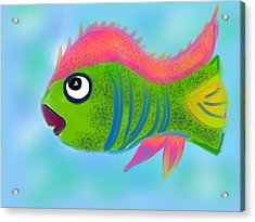Acrylic Print featuring the digital art Fish Wish by Christine Fournier