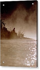 Fisher In The Mist Acrylic Print by Sharon Elliott