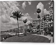 Acrylic Print featuring the photograph Fisher Island by Lorenzo Cassina