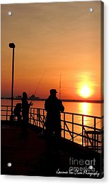 Fisher Sun Acrylic Print by Laurence Oliver