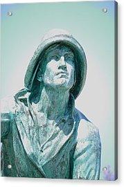 Fisherman Acrylic Print by Dozel Lake