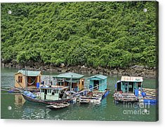 Fisherman Floatting Houses Acrylic Print
