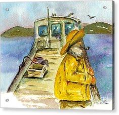 Fisherman Half Moon Bay Acrylic Print