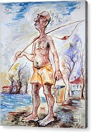 Fisherman Acrylic Print by Milen Litchkov