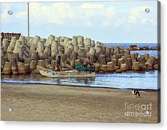 Fisherman  Acrylic Print by Mohamed Elkhamisy