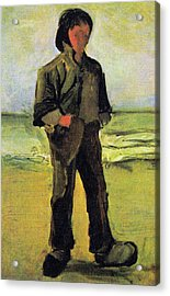 Fisherman On The Beach Acrylic Print by Vincent Van Gogh