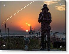Fisherman Sunrise Acrylic Print