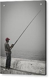 Fisherman Acrylic Print by Tom Hudson
