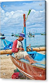 Acrylic Print featuring the photograph Fisherman by Yew Kwang