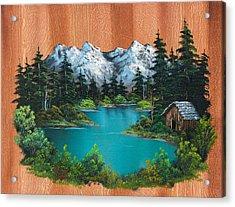 Fisherman's Cabin Acrylic Print by C Steele