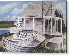 Fishermans Cove  Acrylic Print by Melinda Saminski