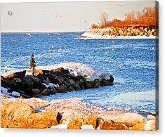 Fishermans Cove Acrylic Print by Frozen in Time Fine Art Photography