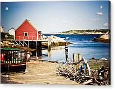 Acrylic Print featuring the photograph Fisherman's Cove by Sara Frank