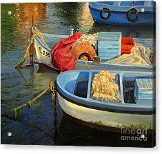 Fisherman's Etude Acrylic Print by Kiril Stanchev