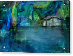 Acrylic Print featuring the digital art Fishermans Hut by Martina  Rathgens