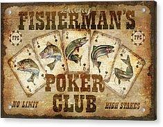Fishermans Poker Club Acrylic Print by JQ Licensing