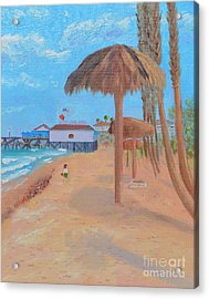 Acrylic Print featuring the painting Fisherman's Resturant by Mary Scott