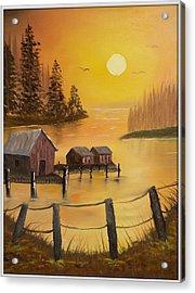 Fisherman's Retreat Acrylic Print by Joyce Krenson