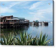 Fishermans Wharf Acrylic Print by Christine Drake
