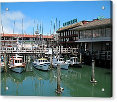 Fishermans Wharf Acrylic Print by Connie Fox